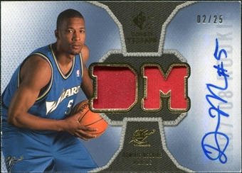 2007/08 Upper Deck SP Rookie Threads Patch Autographs #RTDM Dominic McGuire /25