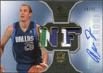 2007/08 Upper Deck SP Rookie Threads Patch Autographs #RTNF Nick Fazekas /25