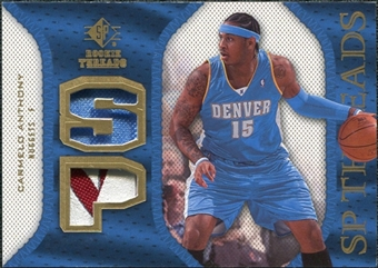 2007/08 Upper Deck SP Rookie Threads Patch #SPCA Carmelo Anthony