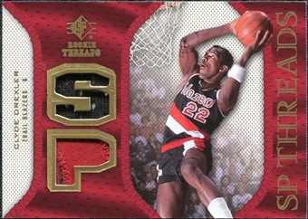 2007/08 Upper Deck SP Rookie Threads Patch #SPCD Clyde Drexler
