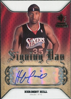 2007/08 Upper Deck SP Rookie Threads Signing Day #SDHH Herbert Hill Autograph