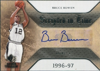 2007/08 Upper Deck SP Rookie Threads Scripted in Time #BB Bruce Bowen Autograph