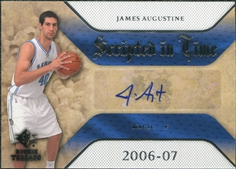 2007/08 Upper Deck SP Rookie Threads Scripted in Time #JA James Augustine Autograph