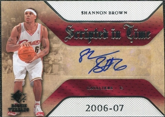 2007/08 Upper Deck SP Rookie Threads Scripted in Time #SB Shannon Brown Autograph
