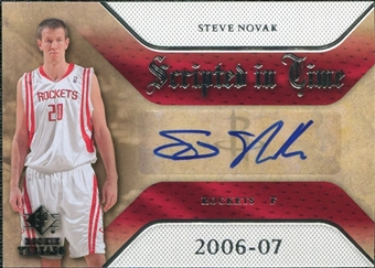 2007/08 Upper Deck SP Rookie Threads Scripted in Time #SN Steve Novak Autograph