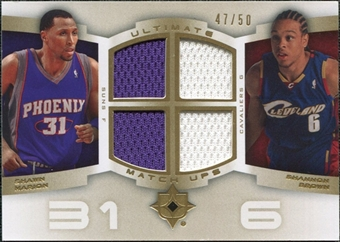 2007/08 Upper Deck Ultimate Collection Matchups Gold #MB Shawn Marion Shannon Brown /50