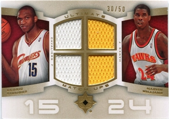 2007/08 Upper Deck Ultimate Collection Matchups Gold #WS Marvin Williams Cedric Simmons /50