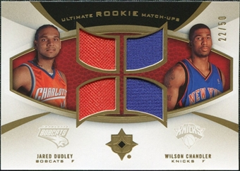 2007/08 Upper Deck Ultimate Collection Rookie Matchups Gold #DC Jared Dudley Wilson Chandler /50