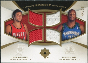 2007/08 Upper Deck Ultimate Collection Rookie Matchups Gold #MR Josh McRoberts Chris Richard /50