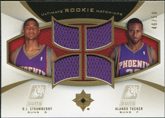 2007/08 Upper Deck Ultimate Collection Rookie Matchups Gold #ST Alando Tucker D.J. Strawberry /50