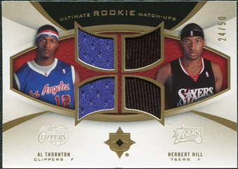 2007/08 Upper Deck Ultimate Collection Rookie Matchups Gold #TH Al Thornton Herbert Hill /50