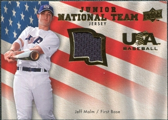 2008 Upper Deck USA Junior National Team Jerseys #JM Jeff Malm