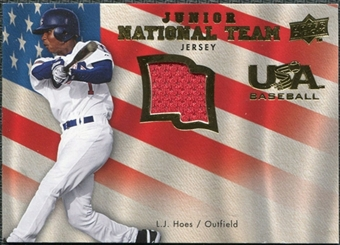 2008 Upper Deck USA Junior National Team Jerseys #LH L.J. Hoes