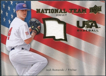 2008 Upper Deck USA National Team Jerseys #JR Josh Romanski