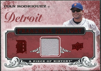 2008 Upper Deck UD A Piece of History Franchise History Jersey #FH21 Ivan Rodriguez