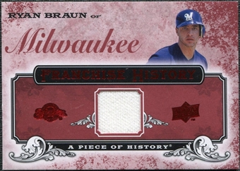 2008 Upper Deck UD A Piece of History Franchise History Jersey #FH29 Ryan Braun