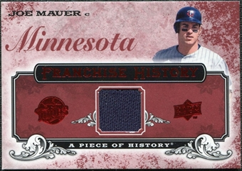 2008 Upper Deck UD A Piece of History Franchise History Jersey #FH30 Joe Mauer