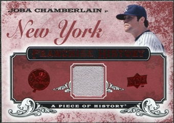 2008 Upper Deck UD A Piece of History Franchise History Jersey #FH36 Joba Chamberlain