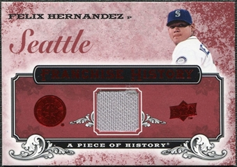 2008 Upper Deck UD A Piece of History Franchise History Jersey #FH47 Felix Hernandez