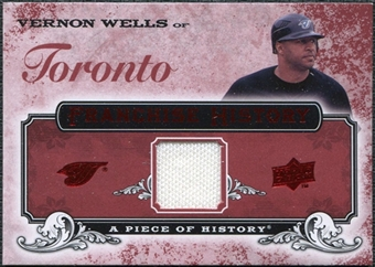 2008 Upper Deck UD A Piece of History Franchise History Jersey #FH50 Vernon Wells
