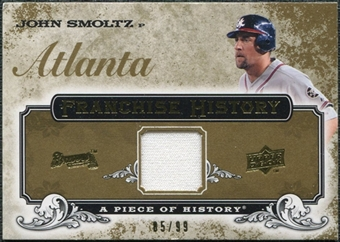 2008 Upper Deck UD A Piece of History Franchise History Jersey Gold #FH4 John Smoltz /99
