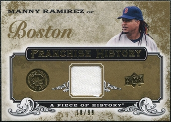 2008 Upper Deck UD A Piece of History Franchise History Jersey Gold #FH7 Manny Ramirez /99
