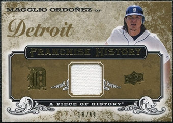 2008 Upper Deck UD A Piece of History Franchise History Jersey Gold #FH20 Magglio Ordonez /99