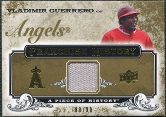 2008 Upper Deck UD A Piece of History Franchise History Jersey Gold #FH26 Vladimir Guerrero /99