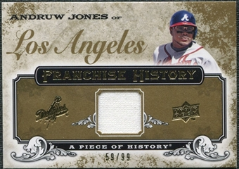 2008 Upper Deck UD A Piece of History Franchise History Jersey Gold #FH27 Andruw Jones /99