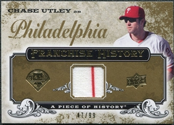 2008 Upper Deck UD A Piece of History Franchise History Jersey Gold #FH42 Chase Utley /99