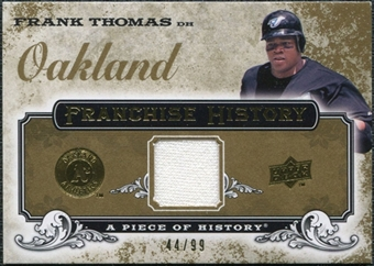 2008 Upper Deck UD A Piece of History Franchise History Jersey Gold #FH49 Frank Thomas /99