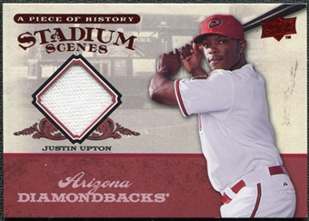 2008 Upper Deck UD A Piece of History Stadium Scenes Jerseys #SS2 Justin Upton