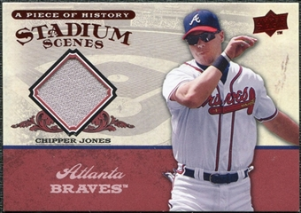 2008 Upper Deck UD A Piece of History Stadium Scenes Jerseys #SS4 Chipper Jones