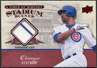 2008 Upper Deck UD A Piece of History Stadium Scenes Jerseys #SS13 Derrek Lee