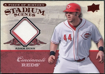 2008 Upper Deck UD A Piece of History Stadium Scenes Jerseys #SS16 Adam Dunn