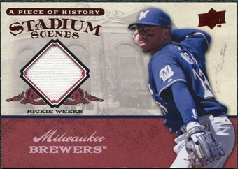 2008 Upper Deck UD A Piece of History Stadium Scenes Jerseys #SS29 Rickie Weeks