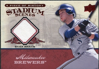 2008 Upper Deck UD A Piece of History Stadium Scenes Jerseys #SS30 Ryan Braun