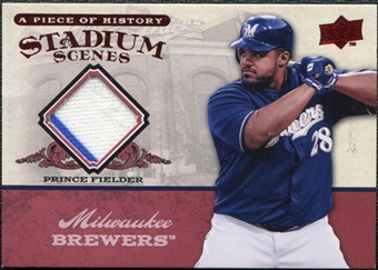 2008 Upper Deck UD A Piece of History Stadium Scenes Jerseys #SS31 Prince Fielder