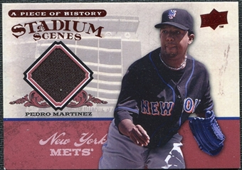 2008 Upper Deck UD A Piece of History Stadium Scenes Jerseys #SS33 Pedro Martinez