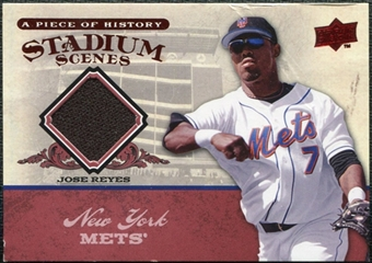 2008 Upper Deck UD A Piece of History Stadium Scenes Jerseys #SS34 Jose Reyes