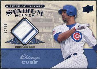 2008 UD A Piece of History Stadium Scenes Jersey Blue #SS13 Derrek Lee /25