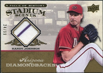 2008 Upper Deck UD A Piece of History Stadium Scenes Jersey Gold #SS1 Randy Johnson /99