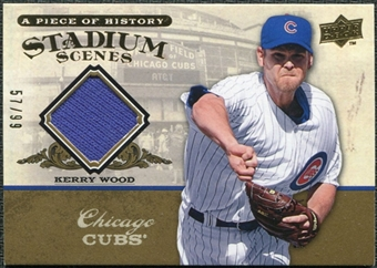 2008 Upper Deck UD A Piece of History Stadium Scenes Jersey Gold #SS12 Kerry Wood /99