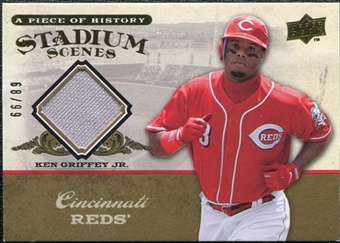 2008 Upper Deck UD A Piece of History Stadium Scenes Jersey Gold #SS15 Ken Griffey Jr. /99