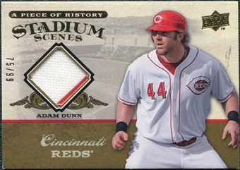 2008 Upper Deck UD A Piece of History Stadium Scenes Jersey Gold #SS16 Adam Dunn /99