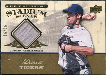 2008 Upper Deck UD A Piece of History Stadium Scenes Jersey Gold #SS22 Justin Verlander /99