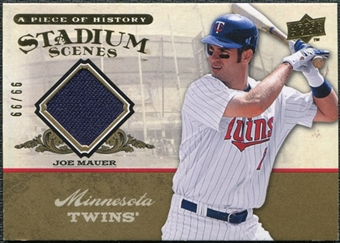 2008 Upper Deck UD A Piece of History Stadium Scenes Jersey Gold #SS32 Joe Mauer /99