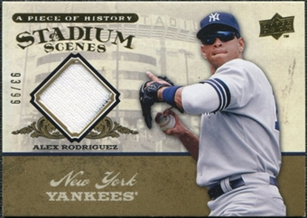 2008 Upper Deck UD A Piece of History Stadium Scenes Jersey Gold #SS38 Alex Rodriguez /99