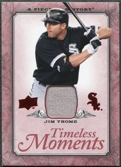 2008 Upper Deck UD A Piece of History Timeless Moments Jersey #13 Jim Thome