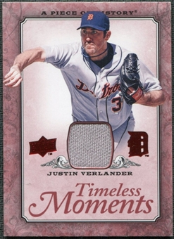 2008 Upper Deck UD A Piece of History Timeless Moments Jersey #20 Justin Verlander